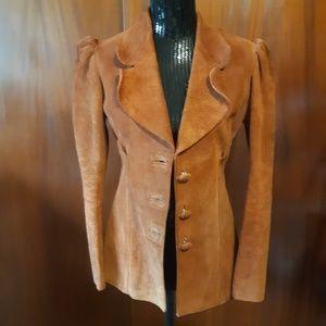 Vintage 1980s Handmade Leather Jacket